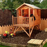 Kids play houses play dens sheds makers of cheshire for Children s garden sheds