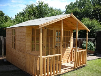 summerhouses sheds makers of cheshire northwich - Garden Sheds With Veranda